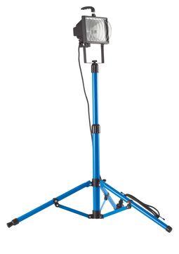 Hedi Halogenstrahler Stativ 500 Watt 500 Watt auf 1,90m ausziehbar Blau