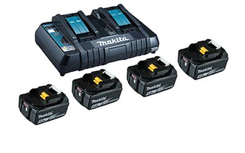 MAK Power Source Kit 199483-0 4 Akkus 5Ah 18,0V Doppelladeger.Kar