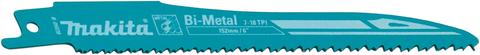 Makita Reciproblatt BIM 152 mm 18 Zähne für JR3050T 5 Stück Bimetall