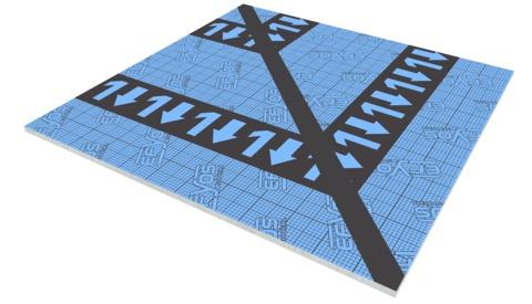 SOPREMA DAA dh PIR Gratplatte G1 45 Efyos Blue Smart A 120kPa 1200x1200mm WLS 023
