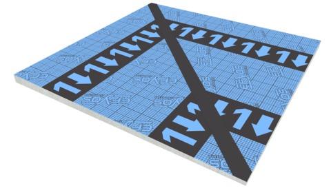 SOPREMA DAA dh PIR Kehlplatte K1 45 Efyos Blue Smart A 120kPa 1200x1200mm WLS 023