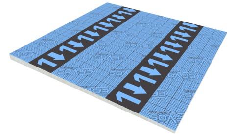 SOPREMA DAA ds PIR Gefälle 20- 45mm Efyos Blue SMART A 1 120kPa 1200x1200mm WLS 023