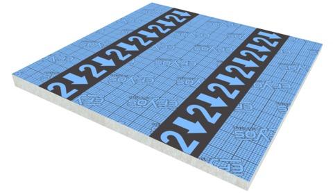 SOPREMA DAA ds PIR Gefälle 45- 70mm Efyos Blue SMART A 2 120kPa 1200x1200mm WLS 023