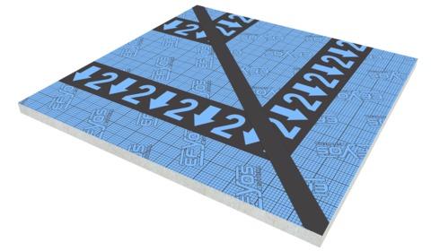 SOPREMA DAA dh PIR Gratplatte G2 70 Efyos Blue Smart A 120kPa 1200x1200mm WLS 023