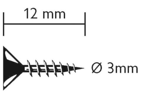 Vinylit Senkkopfschraube 3,0x12 mm V2A 200 Stück Blank