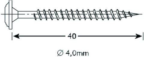 Vinylit Befestigungsschraube 4x40 mm 500 Stück mit Torx, Linsenkopf Edelstahl DIN 1.4301