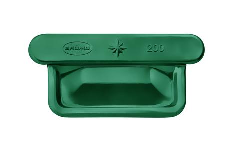 Grömo 8-teiliger Rinnenboden Kasten universal SX Alustar links/rechts 250mm Moosgrün