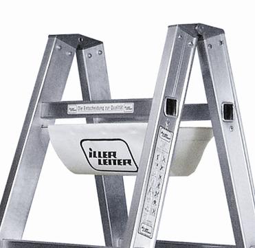 Geis&Knoblauch Stehleiter beidseitig 7 Sprossen 2,11 m Alu