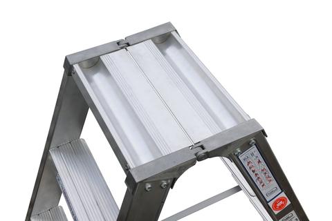 Geis&Knoblauch Stehleiter beidseitig 10 Stufen 2,50m Aluminium