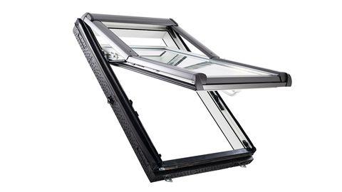 Roto Wohndachfenster WDF R78K W WD 05/07 Alu Designo 2Comfort Hoch-Schwingfenster Weiß