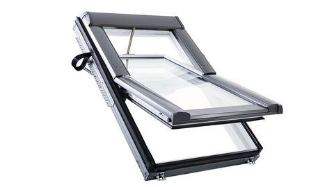 Roto Wohndachfenster Tronic R69GK W WD 05/11 elektrisch Funk Alu Designo 3Comfort Schwingfenster Weiß