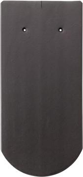 Erlus Biber Rundschnitt ganz 18x38 cm Anthrazit engobiert