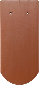 Erlus Biber Rundschnitt ganz 18x38 cm Kupferbraun engobiert