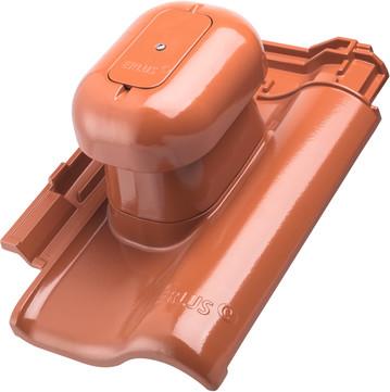 Erlus E58SL System Sanitärlüfter komplett Alu für Anthrazit engobiert beschichtet EPDM