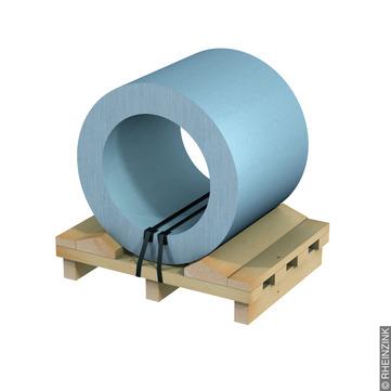 RHEINZINK Band 0,70/1000 mm 1000 kg Titanzink prePATINA blaugrau