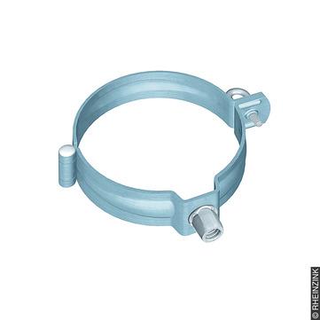 RHEINZINK 6-teilige Rohrschelle rund 100mm prePatina ohne Stift M10 Gewinde Prepatina blaugrau