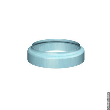 RHEINZINK 6-teilige Standrohrkappe 100/116 mm ohne Muffe Titanzink prePATINA blaugrau