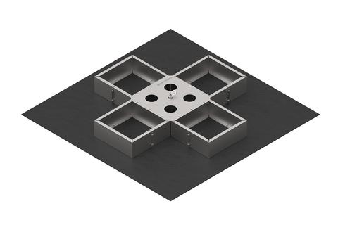 Bauder Secutec VARIO-45 Auflast, Eck-,End- und Zwischenstück