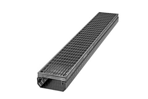 ZinCo Fassadenrinne FTR 55/ 75 G 1m 5,5- 7,5x14,5cm