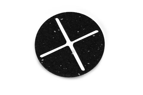 ZinCo Dämmpfungsscheibe Elefeet RC Gummi 3mm 100 Stück im Paket Schwarz