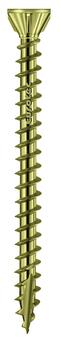 E.U.R.O. Tec Schraube OSB-Fix4,3x80mm TX20 Senkkopf 250 Stück im Paket Gelb verzinkt