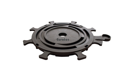 E.U.R.O. Tec Verstellfuß Pro XXS 50 Stück im Paket 1,0-1,5cm mit L-und S-Adapter