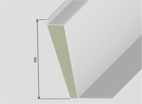 LAMILUX Aufsetzkranz 30 cm 90x 90 cm F100 wärmegedämmt GFK