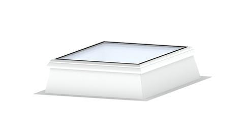 LAMILUX Glaselement 2-fach 100x100 cm CI-System F100 W103 ESG MHF Glas