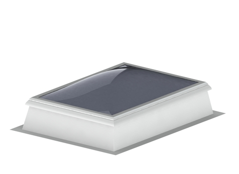 LAMILUX Lichtkuppel-lüftbar 3-schalig 100x100 cm F100 für Aufsetzkranz Solo Opal