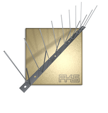 AKS PIXX-Duo Blech 2,0mm 100cm Taubenstopleiste komplett 100 Stück im Paket Edelstahl DIN 1.4301