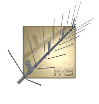 AKS PIXX-Rinne 2,0mm 100cm Taubenstopleiste komplett 100 Stück im Paket Edelstahl DIN 1.4301