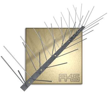 AKS PIXX-Quattro Blech Lite 1,6mm 100cm Taubenstopleiste komplett 50 Stück Edelstahl DIN 1.4301