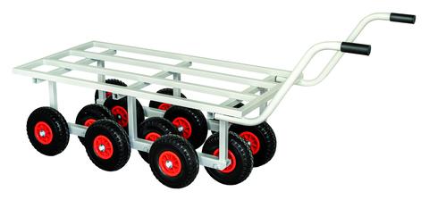 Dachdecker-Einkauf Ost Dachtransportwagen Wiesel Ladefläche 1300x650 mm Räder RAL 7035 Lichtgrau