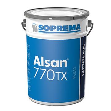 SOPREMA ALSAN 770TX 2K 10,0kg mit anteilig 2 Pakete Katalysator RAL7012 Basaltgrau