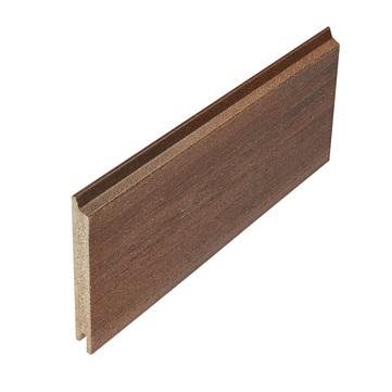 NATURinFORM Fassadenprofil Die Gestaltende XXL 4 m WPC 18x152 mm Holzmaserung gebürstet Kastanienbraun