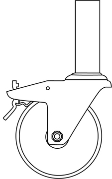 euroline Lenkrolle mit Zapfen 125 mm