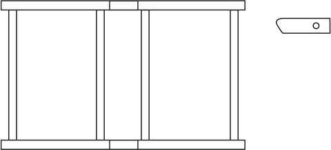 euroline Gelenkträger für Faltgerüst 1,80 m 1,80x0,75 m