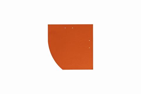 Eternit Dachplatte 25x25cm Deutsche Deckung Bogen links 5-10 glatt NC Quadrat mit Bogenschnitt links Klassikrot