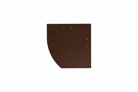 Eternit Dachplatte 25x25cm Deutsche Deckung Bogen links 5-10 glatt NC Quadrat mit Bogenschnitt links Dunkelbraun