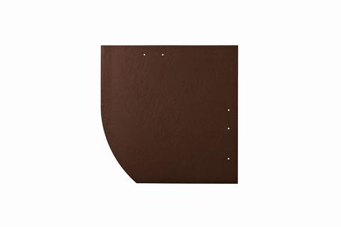 Eternit Dachplatte 30x30cm Deutsche Deckung Bogen links 5-11 glatt NC Quadrat mit Bogenschnitt links Dunkelbraun