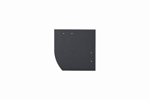 Eternit Dachplatte 20x20cm Deutsche Deckung Bogen links 4 Kleinpaket glatt NC Quadrat mit Bogenschnitt links Blauschwarz