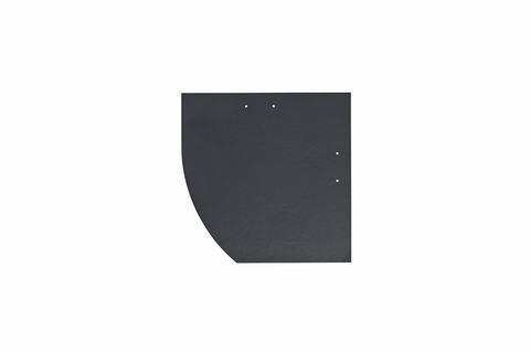 Eternit Dachplatte 25x25cm Deutsche Deckung Bogen links 5-10 glatt NC Quadrat mit Bogenschnitt links Blauschwarz