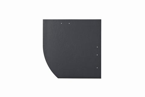 Eternit Dachplatte 30x30cm Deutsche Deckung Bogen links 5-11 glatt NC Quadrat mit Bogenschnitt links Blauschwarz