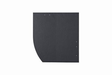 Eternit Dachplatte 40x40cm Deutsche Deckung Bogen links 6-12 glatt NC Quadrat mit Bogenschnitt links Blauschwarz