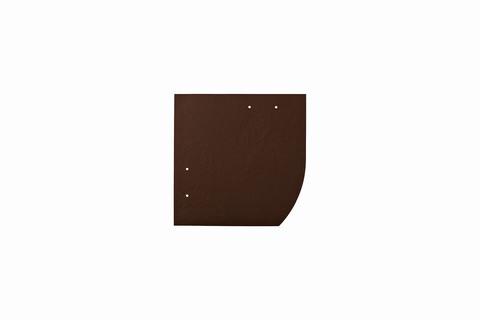 Eternit Dachplatte 20x20cm Deutsche Deckung Bogen rechts 4 Kleinpaket glatt NC Quadrat Dunkelbraun