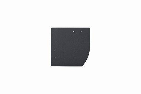 Eternit Dachplatte 20x20cm Deutsche Deckung Bogen rechts 4 Kleinpaket glatt NC Quadrat Blauschwarz