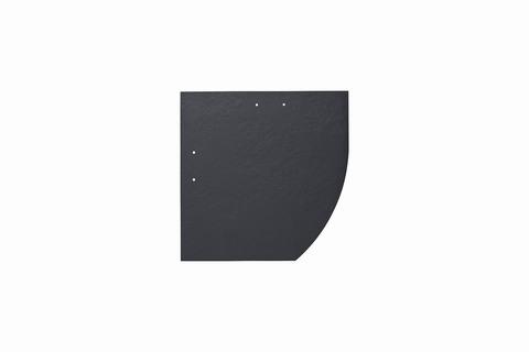 Eternit Dachplatte 25x25cm Deutsche Deckung Bogen rechts 5-10 glatt NC Quadrat mit Bogenschnitt rechts Blauschwarz