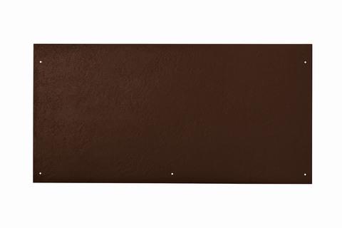 Eternit Dachplatte 60x30cm vertieft Quaderdeckung glatt NC 5 Loch Dunkelbraun