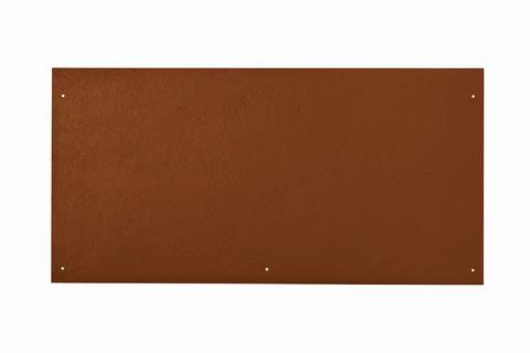 Eternit Dachplatte 60x30cm vertieft Quaderdeckung glatt NC 5 Loch Ziegelrot