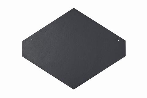 Eternit Dachplatte 40x44cm Rhombusdeckung 9+10 glatt NC gelocht Blauschwarz